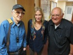 Haskell Wexler, Daryl Hannah and Blase in KPFK Studio for 07-28-13 World Focus broadcast