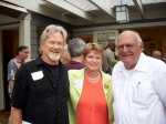 Kris Kristofferson, Elke Heitmeyer, and Blase Bonpane at 2010 OOA Peace & Justice gathering