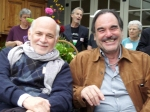 Ron Kovik and Oliver Stone at OOA's 2010 Peace and Justice event at the home of Paul and Deborah Haggis
